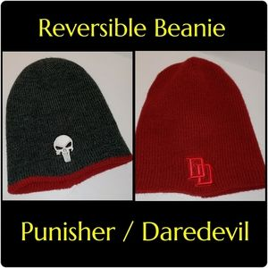 Other - DC Comics Daredevil Punisher Reversible Beanie